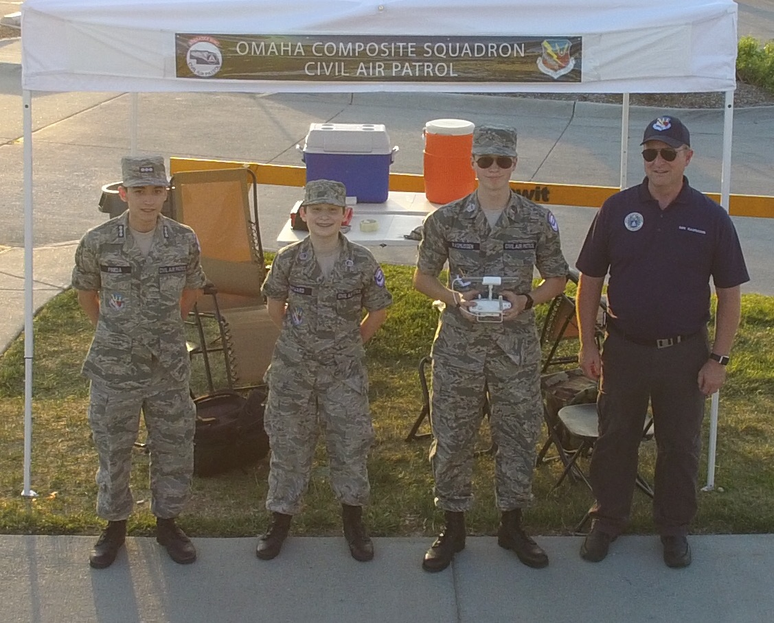 Omaha composite squadron ocs members manning the cap tent at sand in the city 2017 yelopaper Gallery